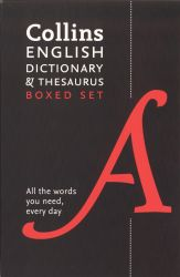 Collins English dictionary and thesaurus : boxed set