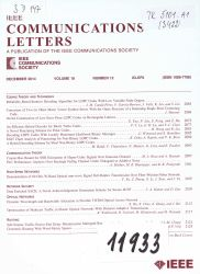 Jednotky: IEEE communications letters