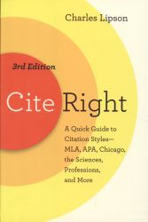 Cite right: a quick guide to citation styles - MLA, APA, Chicago, the sciences, professions, and more